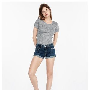 Express shortie relaxed low rise size 8